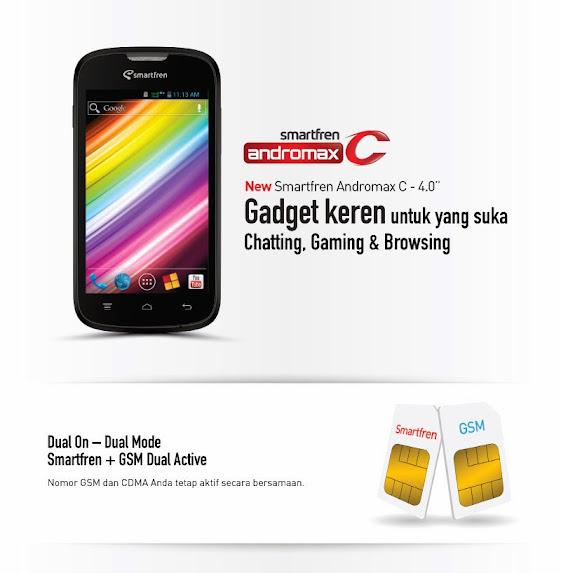 Smartfren Andromax C - Spesifikasi Lengkap dan Harga, Ponsel Murah