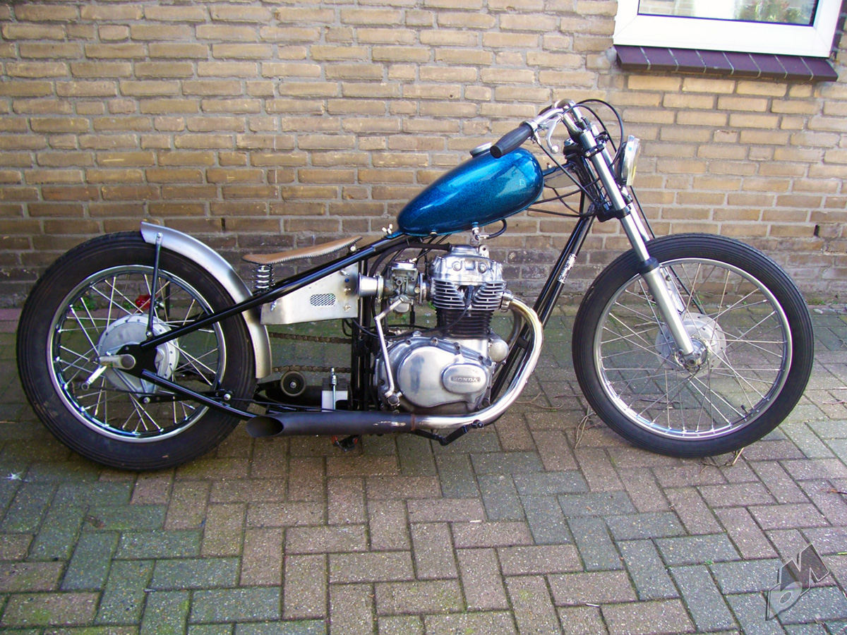 This Bike Is A Honda Cb360 He Calls The Kickflip Its Got Santee Frame Probably Worked Hard On To Make It Accept Engine