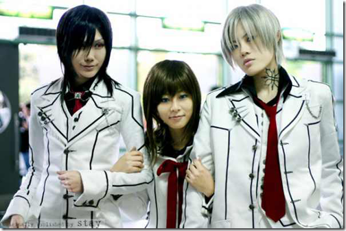 vampire knight cosplay - kuran kaname by stay, yuki cross, and kiryuu zero