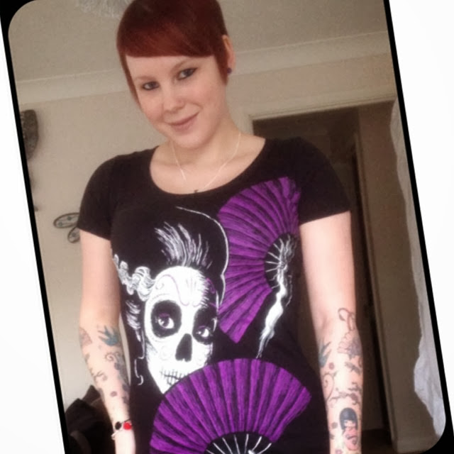sugar skull shirt, cute sugar skull, dia de los muertos shirt, cute tattoo shirt, girl with tattoos, tattoo geek