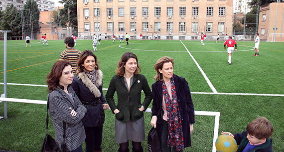 Renovados los campos de fútbol del Complejo Deportivo del Canal de Isabel II