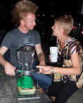 Will you give me a ride on your chopper?  (Kenny has an industrial strength margarita mixer made from an edger)