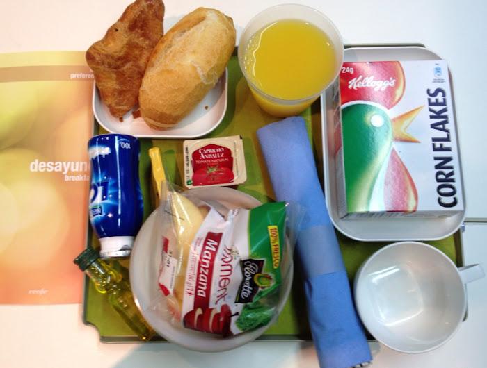 Desayuno Saludable en calse preferente de Renfe