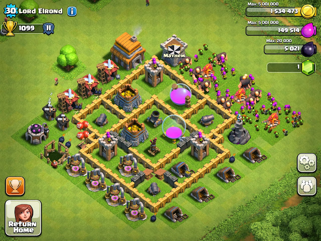 Mayhem family of clans different successful town hall and layouts
