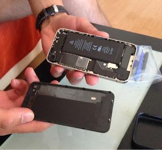 Iphone 4 sin tapa