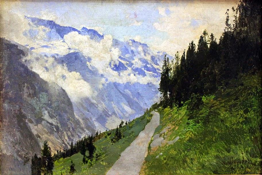 Lev Kamenev - Mountain Landscape