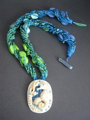 Ombre Seahorse Pendant