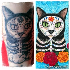 Cat Art Journal By Carrie Tigerpixie Hawks Day Of The