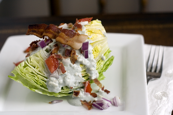 Crab Imperial on the Half Shell with a Blue Cheese & Bacon Wedge Salad ...
