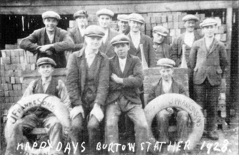 Workers at the Burton Stather Brickyard 1928