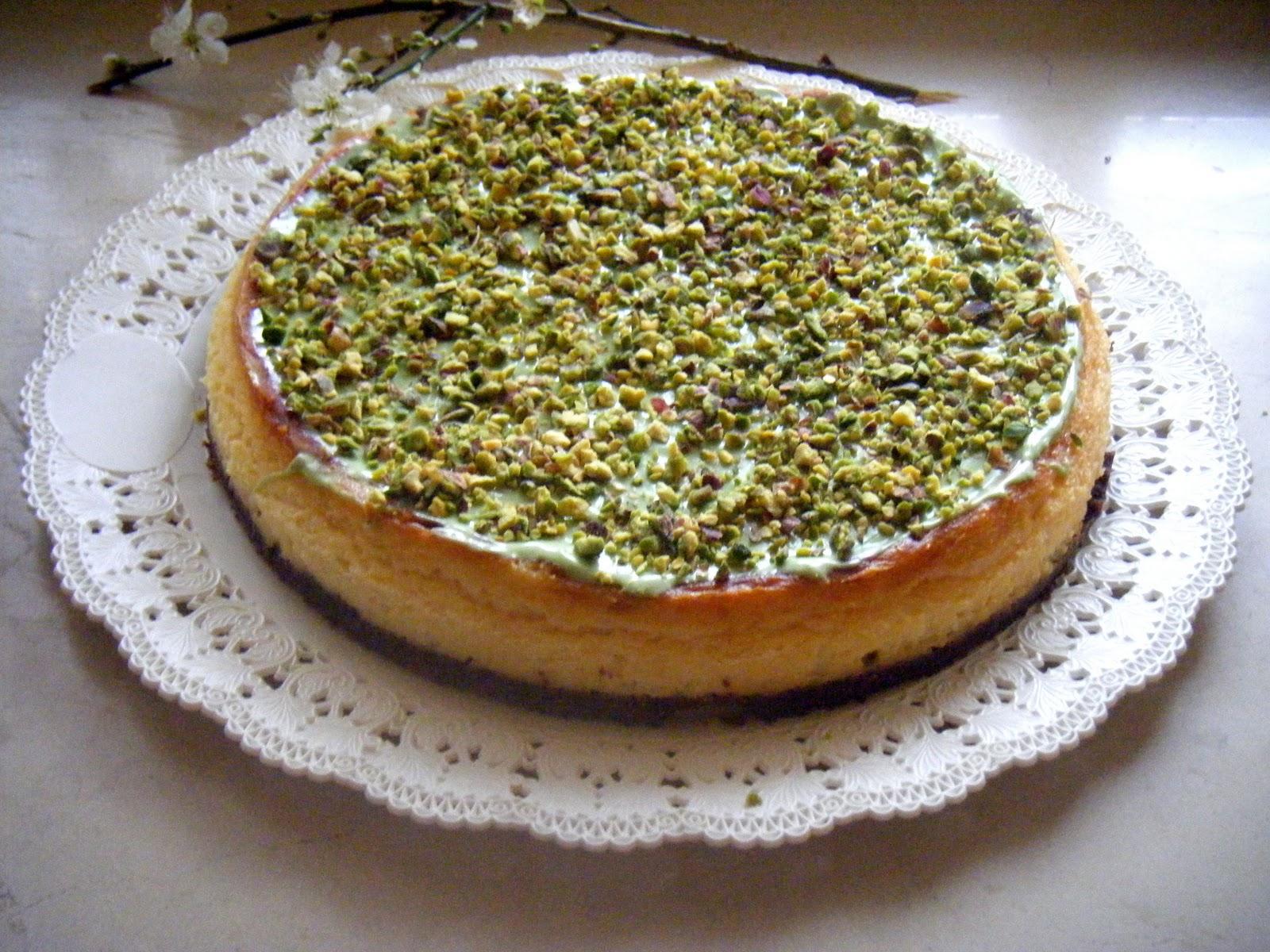 Preferenza Marcella in cucina: Cheesecake al cioccolato bianco e pistacchi LF43