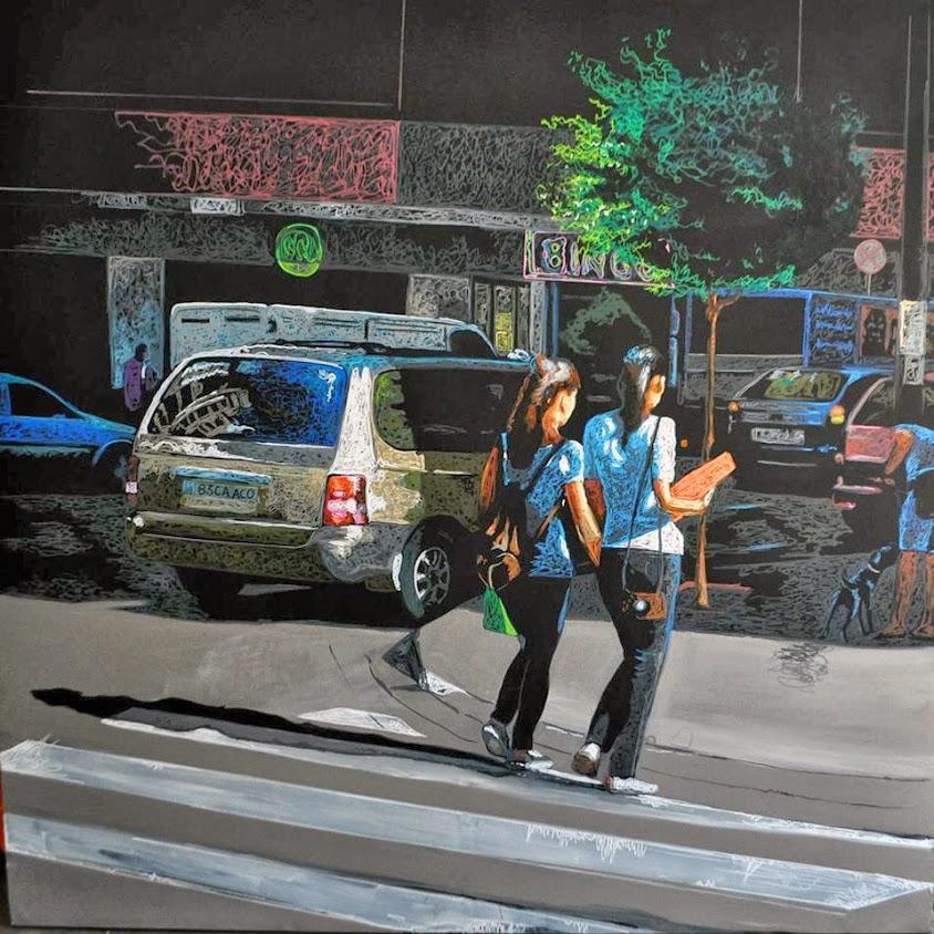 Avenida Selenita nº 106,pintura  de Fernando Jiménez,