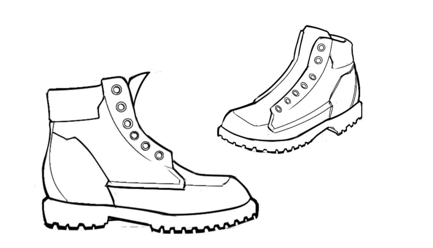 boots coloring pages - work boots free coloring pages