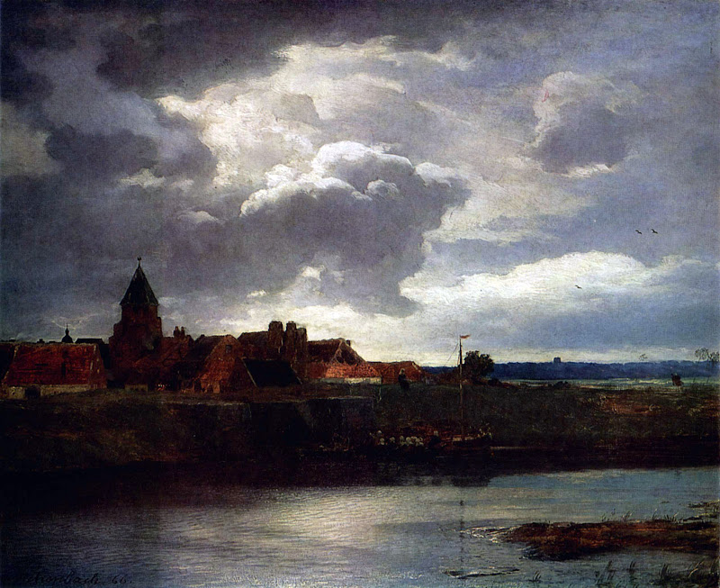 Andreas Achenbach - Landscape with a River