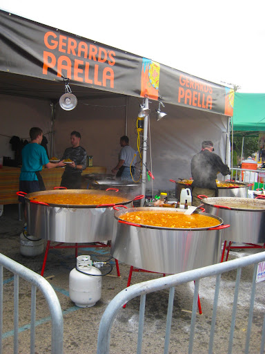 Paella...yum! Look at those giant paella pans!