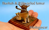 Baobab & Ring-tailed lemur -Madagascar-