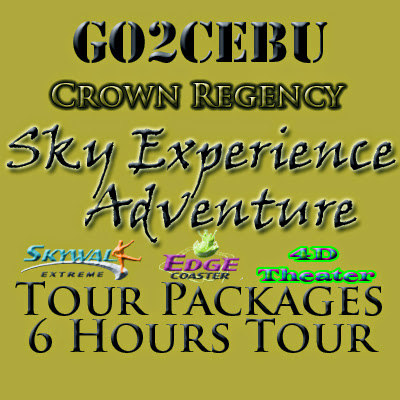 Crown Regency Sky Experience Adventure in Cebu Day Tour Itinerary 6 Hours Package