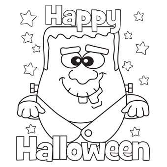 Happy Halloween coloring pages - Frankenstein Monster Coloring Pages