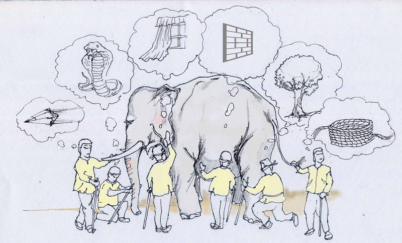 an essay on absolute understanding a tale of an elephant and a group of blind men