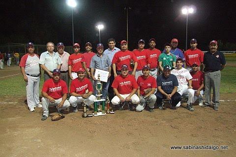 Equipo Tekateros del torneo noctuno de softbol