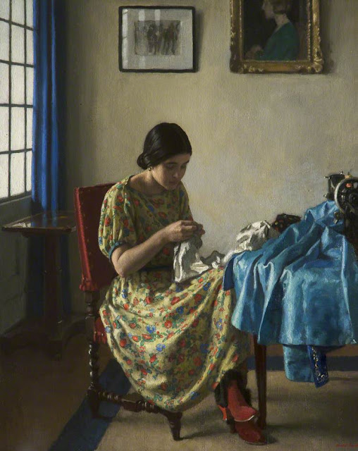 Harold Knight - Sewing
