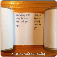 Tot School - Toilet roll memory verse scroll