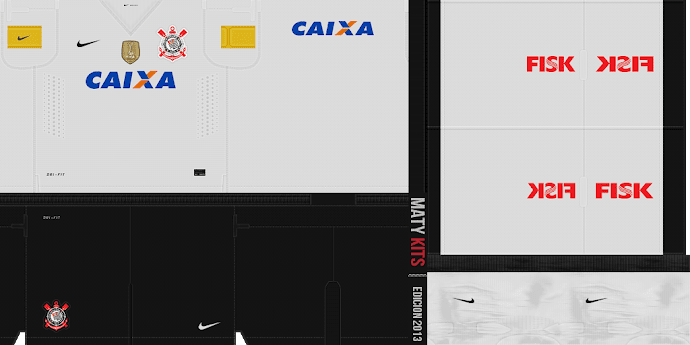 Corinthians kitset 13-14 - PES 2013