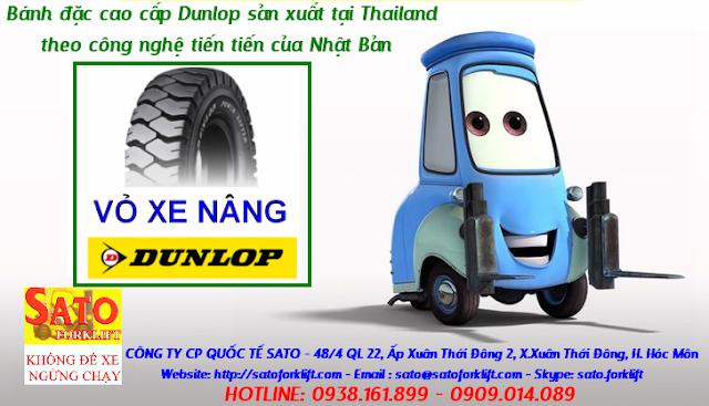 Vỏ đặc xe nâng Dunlop