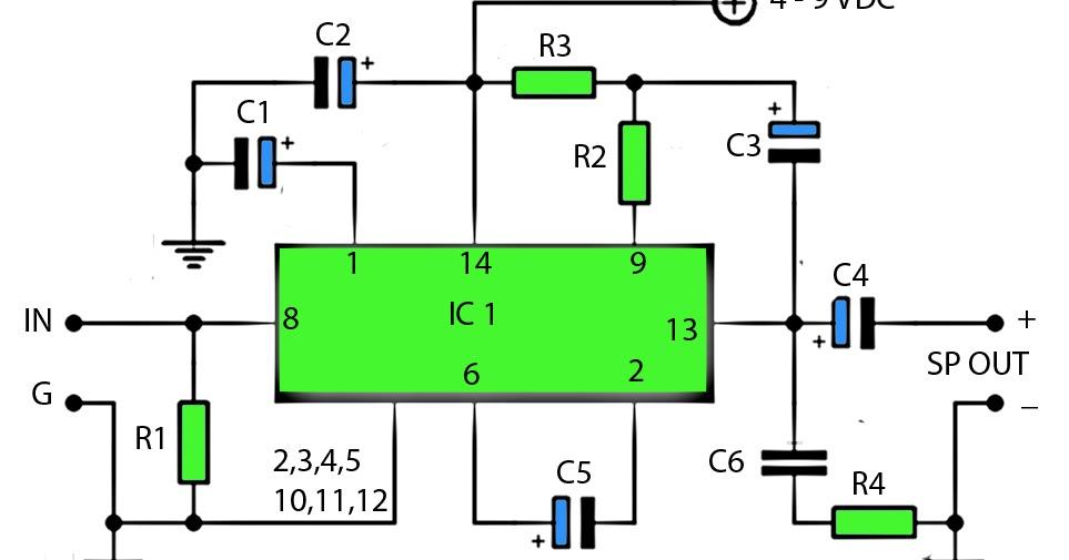lm390 power amplifier schematic diy circuit rh avecircuits blogspot com RF Power Amplifier Schematic Power Amplifier Circuit