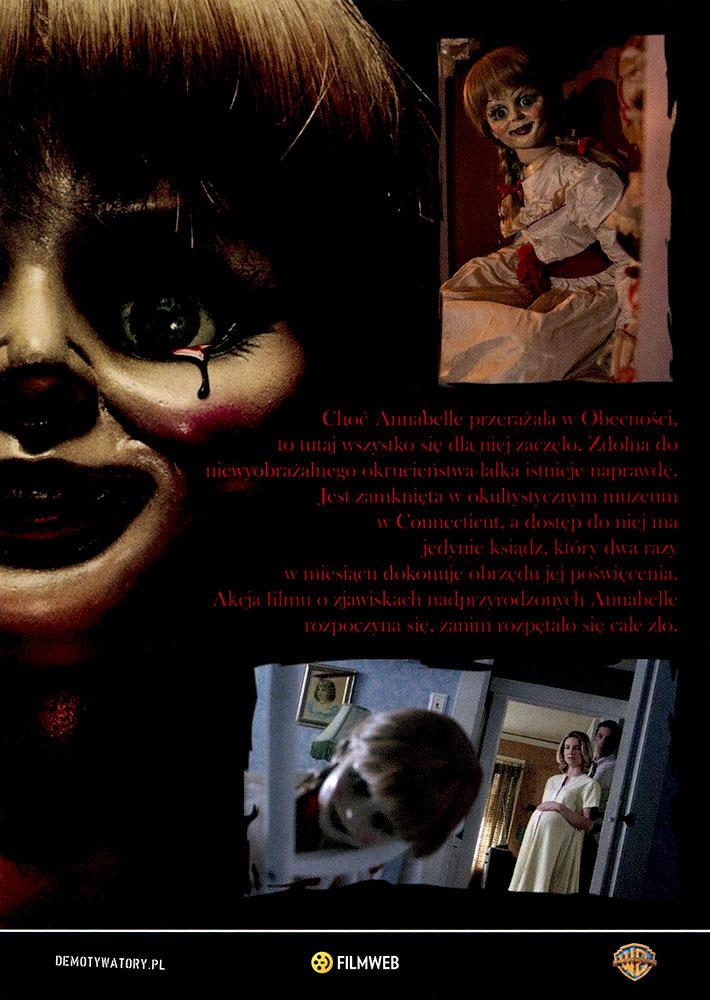 Ulotka filmu 'Annabelle (tył)'
