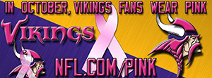 Vikings Breast Cancer Awareness Pink Facebook Cover Photo