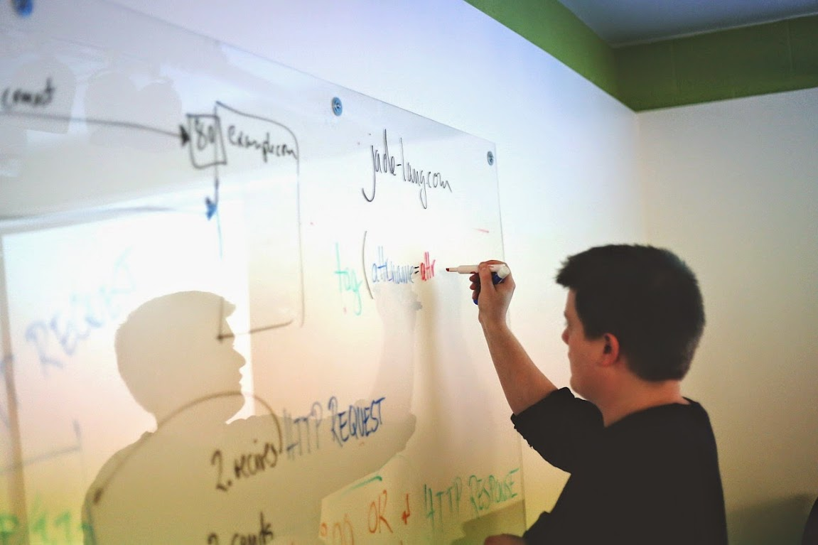 Strategizing on a whiteboard