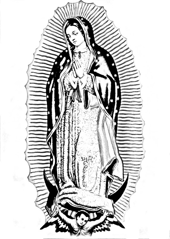 Pinto dibujos virgen de guadalupe para colorear for Virgen de guadalupe coloring pages