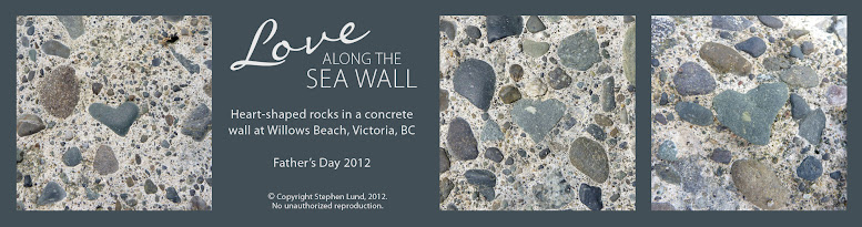My Heart-shaped World: Willows Beach Sea Wall (Victoria, BC) – Father's Day 2012 (by Stephen Lund)