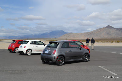 Fiat 500 Abarth test cars