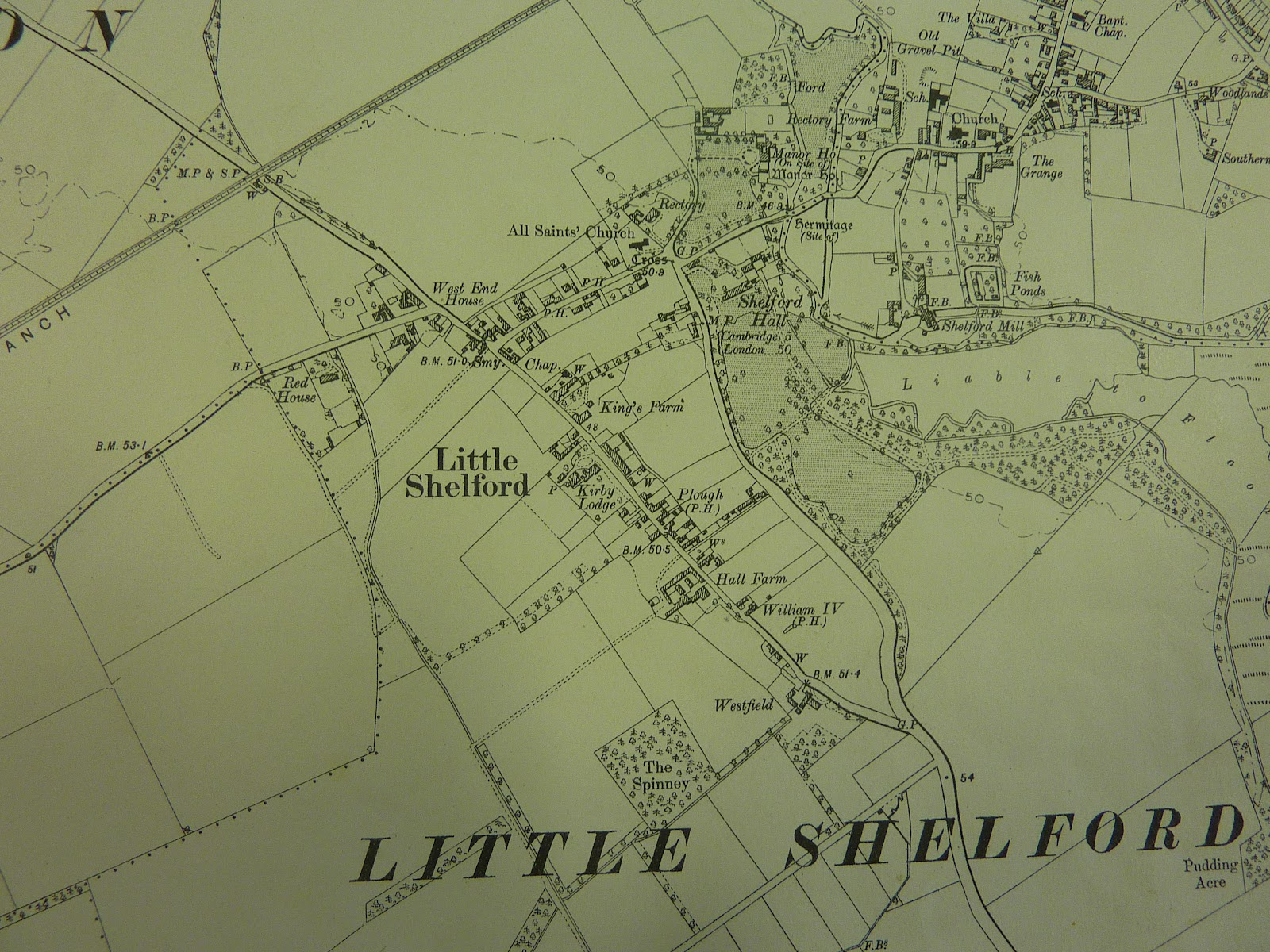 Little Shelford map