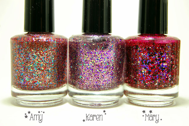 Shimmer Polish Amy, Karen, and Mary