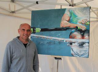 Vincent Dognat peint l'aviron