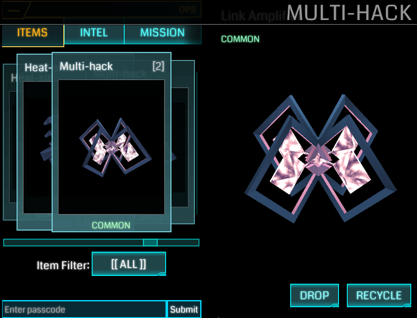 Multi-Hack Ingress Items