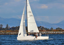 J/70 winning class at San Diego Hot Rum series