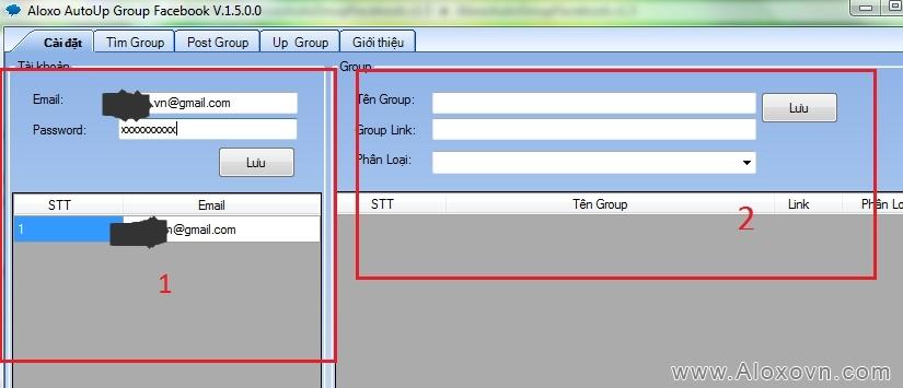 Khởi chạy phần mềm auto up group facebook