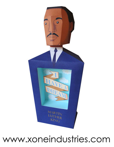 Martin Luther King Papercraft