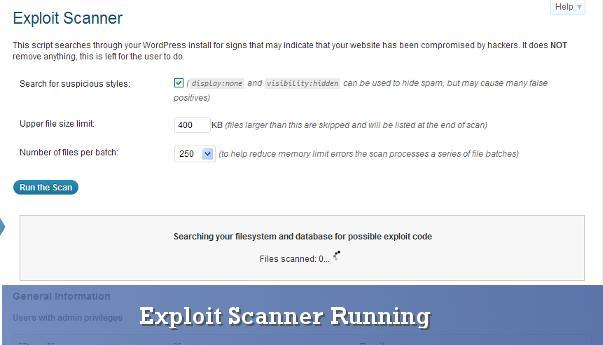 Exploit Scanner Plugin