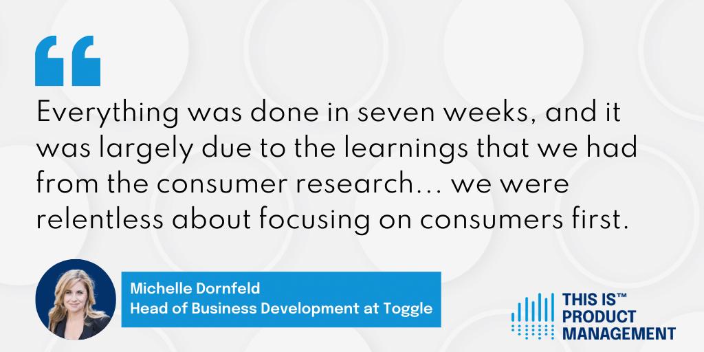 Michelle Dornfeld, Head of Business Development at Toggle