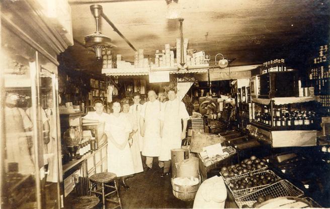 Sandusky History: Interior Views Of Groceries In Sandusky