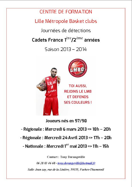 exemple de cv sportif basketball
