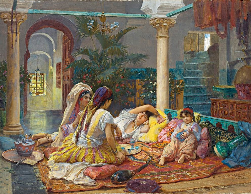 Frederick Arthur Bridgman - In the Harem