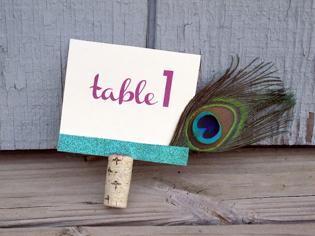 Handcrafted table numbers for sale at www.momentarilyyours.com