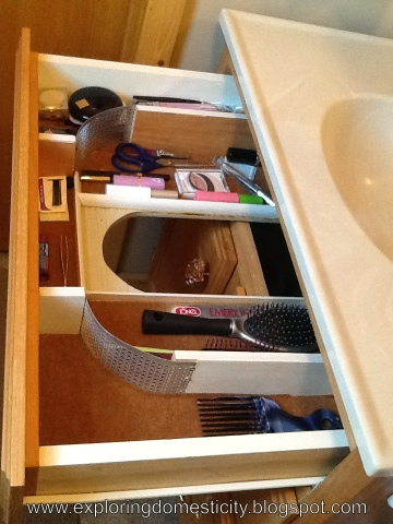 Secret Vanity Drawer Taking Advantage Of Unused E Exploring Domesticity