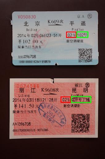 Tickets de tren